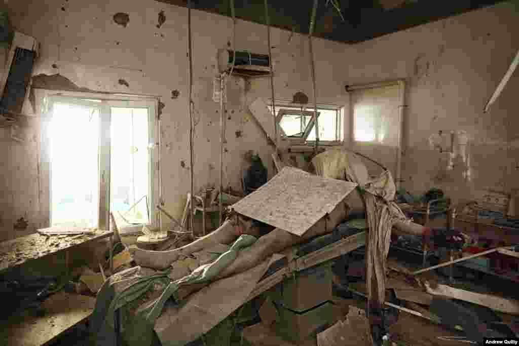 "In Kunduz, in the days after a Doctors Without Borders hospital was hit by a U.S. air strike, the young Australian managed to gain access to the destroyed facility. Alone, with dusk falling and Taliban fighters roaming the streets outside, Andrew found the body of Baynazar Mohammad Nazar lying on the operating table. ""It was shocking. This is the one place where you're at your most vulnerable."" Quilty later located the family of the dead man and set up a fund that raised $12,000 for their support."