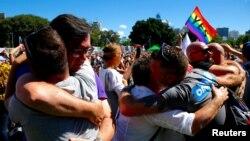 После объявления результатов референдума о легализации однополых браков в Австралии. Сидней, 15 ноября 2017 года.