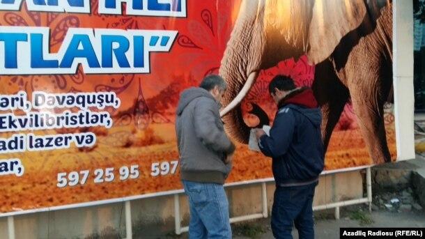 Bakı sirkinin yaxınlığında küçədə bilet satışı, 2 yanvar 2017