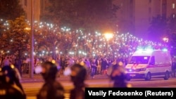Protestatari la Minsk