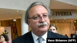 Presidential candidate Grigol Vashadzeso is a former foreign minister who is running for the opposition United National Movement.
