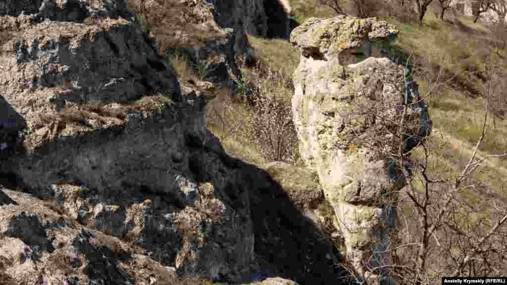 Природа и время придали скальным известнякам дивные, причудливые формы
