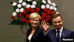 Президент Польши Анджей Дуда с супругой Агатой Корнхаузер-Дудой