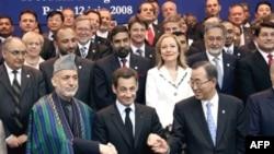 Ҳомиди Карзай, Никола Саркозӣ ва Бан Кӣ Мун ва дигар ширкаткунандагони конфронси Порис аз натиҷаи он розианд