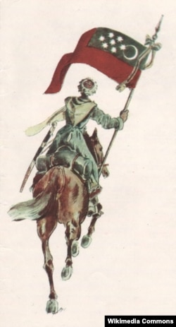 Один из вариантов флага Горской республики