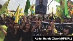 تظاهرة في اربيل تطالب بإطلاق سراح أوجلان