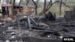 Пожежа у таборі на Березняках у Києві, архівне фото