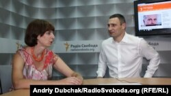 Кличко на интервју за украинскиот сервис на Радио Слободна Европа.