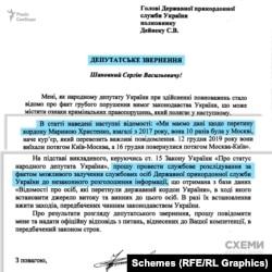 Торік у лютому Федір Христенко написав депутатське звернення до голови ДПС, у якому попросив провести службове розслідування щодо незаконного розголошення інформації про перетин кордону його дружиною