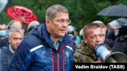 Радий ХәбировКуштауда шиханны яклаучылар белән очраша, 9 август 2020