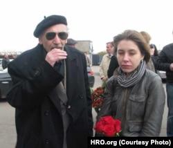 Вера Челищева и Борис Ходорковский. Прощание с Василием Алексаняном. 6 октября 2011 года