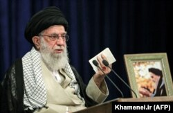 Iran's Supreme Leader Ayatollah Ali Khamenei: The relationship between Shi'ite-majority Iran and the Taliban, a fundamentalist Sunni group, is complex.