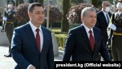 Президенты Кыргызстана и Узбекистана Садыр Жапаров и Шавкат Мирзиеев.