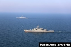 Совместные учения ВМФ России и Ирана в Индийском океане. Февраль 2021 года