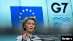 Ursula fon der Lajen , Brisel 10 juna 2021.