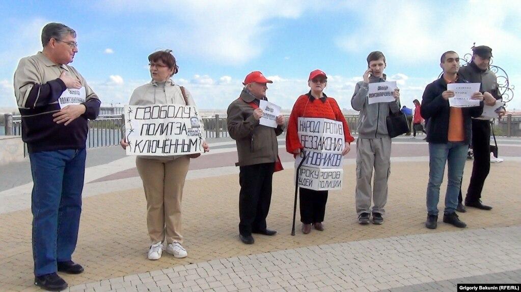 Пикет в защиту Вячеслава Мальцева (Ростов-на-Дону, 15 апреля 2017 г.)