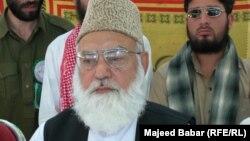Qazi Husain Ahmad (file photo)