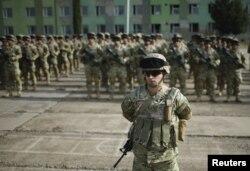 ქართველი ჯარისკაცების გაცილება ავღანეთში, ვაზიანის ბაზა. 2015 წელი