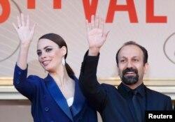 Asghar Farhadi və Berenice Bejo, Cannes Film Festivalı, 2013