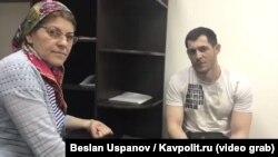 Мурад Амриев и уполномоченная по правам человека в Чечне Хеда Саратова