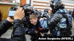 Затримання на акції опозиції в Москві, Росія, 10 серпня 2019 року