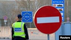 Granica između Italije i Slovenije (11. mart 2020)