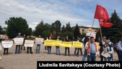 Митинг в Пскове в поддержку Лии и Артёма Милушкиных, 13 июля 2019