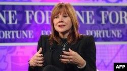 Мэри Барра на очередной из организуемых журналом Fortune ежегодных встреч наиболее влиятельных женщин мира. Вашингтон, 16 октября 2013 года.