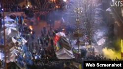 اعتراضهای ضددولتی در اوکراین در پی آن آغاز شد که رئیس جمهوری این کشور از امضای پیمان همکاری اقتصادی با اتحادیه اروپا خودداری کرد- ۱۹ آذرماه ۱۳۹۲