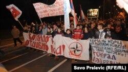 Protest protiv učlanjenja Crne Gore u NATO
