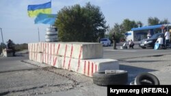 На территории проведения акции по блокаде Крыма вблизи пропускного пункта «Чонгар»