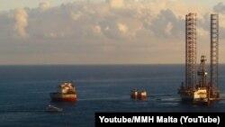 Mlata - Offshore oil exploration, oil drilling, March 16, 2021.