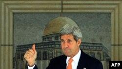 Америкаялъул Пачалихъияв секретарь Джон Керри щун вуго Израилалде, Рамаллагь, 23 июл 2014