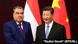 Эмомали Рахмон и Си Цзиньпин