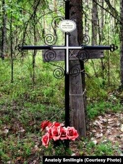 Могила Андрея Утаса, отца Лиды, на кладбище бывшего спецпоселка Второй участок Корткеросского района. Фото Анатолиса Смилингиса