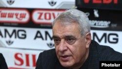 Давид Шахназарян на пресс-конференции, Ереван, 27 ноября 2018 г.