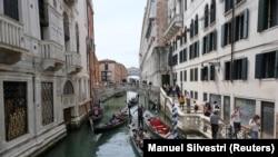 იტალია, ვენეცია, ტურისტული სეზონი პანდემიისას.