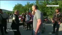 Путин за рулем, Аксенов в коляске. Президент России на байк-шоу в аннексированном Севастополе (видео)