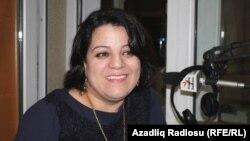 Azerbaijan -- RFE/RL Azeri Service correspondent Shahnaz Beylergizi, Baku, 20Nov2012