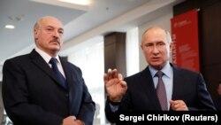 Президент Білорусі Олександр Лукашенко і президент Росії Володимир Путін. Сочі, 15 лютого 2019 року