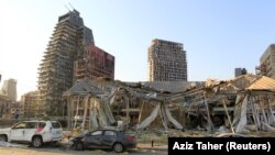 Urmările exploziei din portul din Beirut