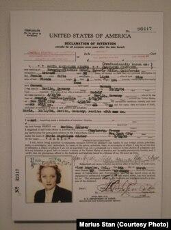 Moldova Marlene Dietrich, expoziție @The National Portrait Gallery, Washington DC.