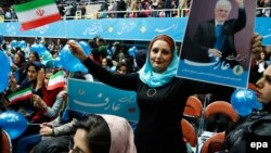 Иран мәжілісі сайлауы адындағы үгіт-насихат көрінісі.