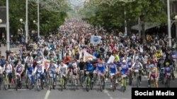 """День """"1000 велосипедистов"""" в Уфе в 2016 году"""