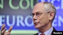Presidenti i Këshillit Evropian, Herman van Rompuj, në Bruksel, 9 dhjetor 2011.