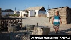 Жительница села имени Комекбаева у колодца. Кызылординская область, 16 июля 2013 года.