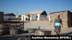 Жительница села Комекбаева стоит у колодца. Кызылординская область, 16 июля 2013 года.