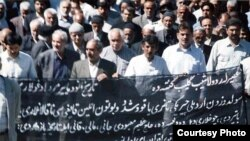 Sulduz şəhərində etiraz aksiyalardan biri. 24 may 2007