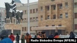 Протест пред Собранието против уставните измени..