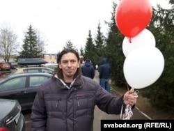 Ігар Карней пасьля вызваленьня з жодзінскага ізалятара, 25 лістапада